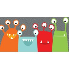 """Monster Mugs"" by Vicky Barone Canvas Art"