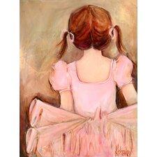 Sweet Ballerina Brunette by Kristina Bass Bailey Canvas Art