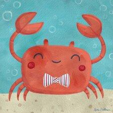 Let's Set Sail Crab by Anne Bollman Canvas Art