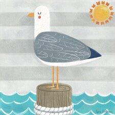 Let's Set Sail Seagull by Anne Bollman Canvas Art