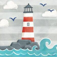 Let's Set Sail Lighthouse by Anne Bollman Canvas Art