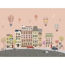 Sweet Street Balloons at Dusk Canvas Art