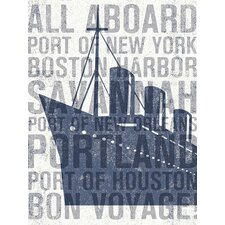The Places He'll Go Ship Canvas Art