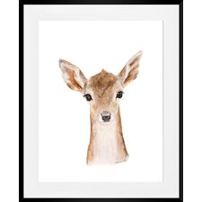 'Fawn' Framed Painting Print