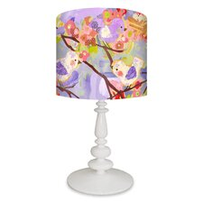 """Cherry Blossom Birdies 21"""" H Table Lamp with Drum Shade"""