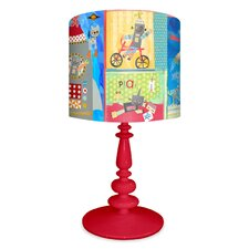 """Robots 21"""" H Table Lamp with Drum Shade"""
