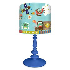"""Alien Invasion 21"""" H Table Lamp with Drum Shade"""