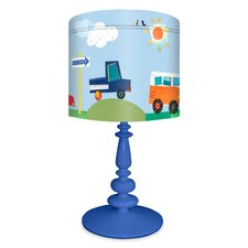 """On the Road Again 21"""" H Table Lamp with Drum Shade"""