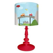 """From Here to There 21"""" H Table Lamp with Drum Shade"""