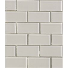 """2"""" x 4"""" Glass Subway Tile in Mist"""