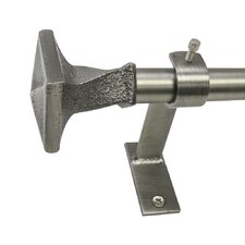 North Branch Twist Square Telescoping Single Curtain Rod and Hardware Set