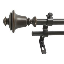 Bell Double Curtain Rod & Hardware Set