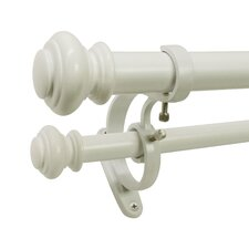 Decopolitan Urn Telescoping Double Curtain Rod and Hardware Set