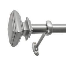 Square Single Curtain Rod & Hardware Set