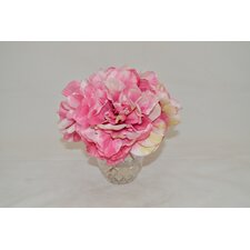 Pink Peonies in Etched Glass Vase