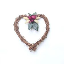 20cm; Grapevine, Straw Flower & Phalaris Wreath