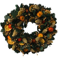 Autumn 40cm; Dried Orange Slice and Oak Leaf Wreath