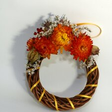 12cm; Dried Helichrysum Flower Wreath