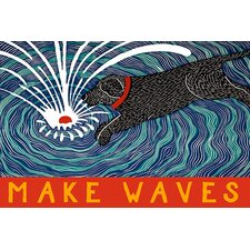 Make Waves with Banner Canvas Print Wall Art