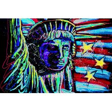 Liberty for Prints 001 Touched Canvas Print Wall Art