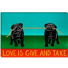 Love is Give and Take by Stephen Huneck Graphic Art on Canvas in Black