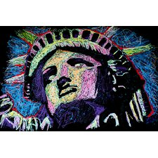 Liberty Drip 002 Canvas Print Wall Art