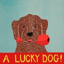 Lucky Dog Choc Canvas Print Wall Art