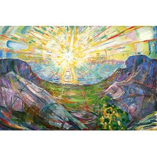 """The Sun, 1916 #2"" by Edvard Munch Painting Print on Canvas"