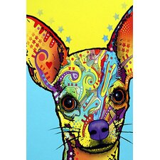 """Chihuahua l"" by Dean Russo Graphic Art on Wrapped Canvas"