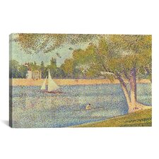 'Banks of Seine 1888' by Georges Seurat Painting Print on Canvas