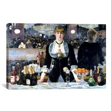 'Bar at The Folies Bergeres' by Edouard Manet Painting Print on Canvas