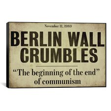 Color Bakery 'Berlin Wall' Textual Art on Canvas