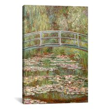 'Bridge Over a Pond of Water Lilies 1899' by Claude Monet Painting Print on Canvas