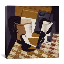 """""""Broc et Verre (Wine Jug and Glass)"""" Canvas Wall Art by Juan Gris"""