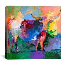 """Bull"" By Richard Wallich Graphic Art on Canvas"