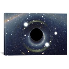"Astronomy and Space ""Black Hole MAXI Absorbing a Star"" Graphic Art on Wrapped Canvas"