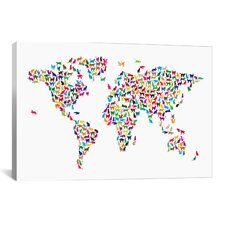 'Cats World Map' by Michael Tompsett Graphic Art on Canvas