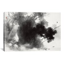 """""""Birds at Roost"""" by Takeuchi Seiho Painting Print on Canvas"""
