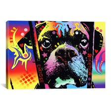 'Choose Adoption Boxer' by Dean Russo Graphic Art on Canvas