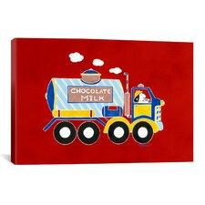 "Shelly Rasche ""Chocolate Milk Truck"" Canvas Wall Art"