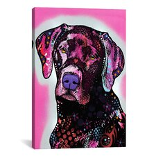 'Black Lab' by Dean Russo Graphic Art on Canvas