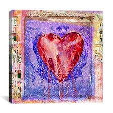 """Bleeding Heart"" by Luz Graphics Graphic Art on Canvas"