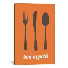 Kitchen Bon Appetit Graphic Art on Canvas