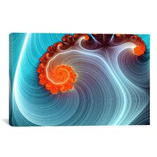 Digital Blue Lagoon Graphic Art on Wrapped Canvas