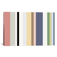 Striped Baby Pastel Graphic Art on Canvas