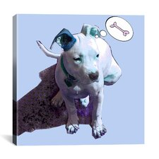 """Blue Puppy"" by Luz Graphics Graphic Art on Canvas"