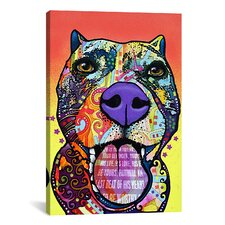 'Bark Dont Bite' by Dean Russo Graphic Art on Canvas