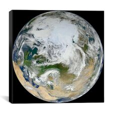 Astronomy and Space  Marble Arctic View Graphic Art on Canvas