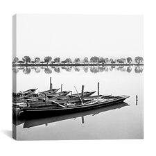 """Boats in Lake"" Canvas Wall Art by Harold Silverman"