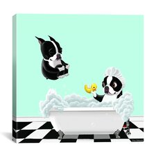 'Bath Tub BT' by Brian Rubenacker Graphic Art on Wrapped Canvas